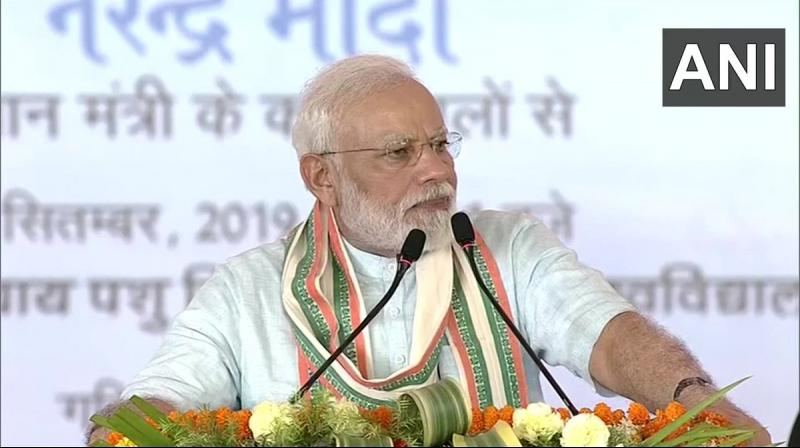 'Today terrorism has become an ideology, which is not bound by national boundaries,' PM Modi said in Mathura. (Photo: ANI)