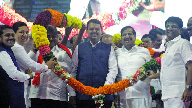 NCP leader Ganesh Naik joins the BJP on Wednesday.