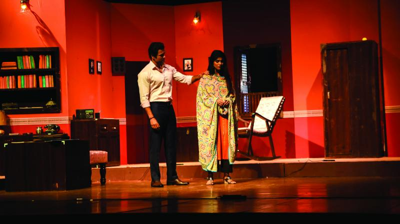 Interestingly, this play was originally written in Marathi and then translated in Hindi.