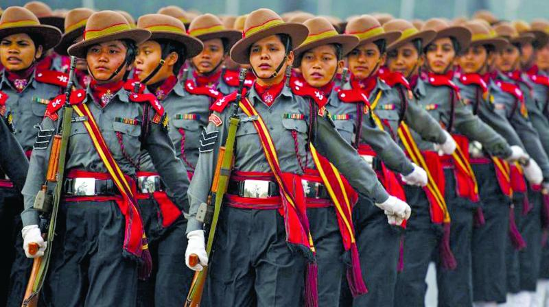 A picture from the Republic Day parade used for representational purpose