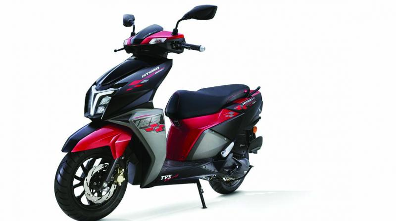 TVS Motor, India's third largest two-wheeler maker, which scored its best ever monthly sales of TVS NTorq in a depressed market last month, on Thursday launched the TVS NTorq 125 Race Edition at Rs 62,995 at Delhi showroom to boost sales during the festival season.