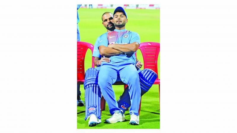Shikhar Dhawan and Rishabh Pant