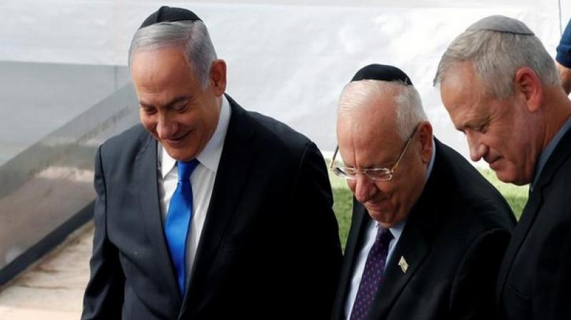 After preliminary attempts to negotiate a unity coalition between Benjamin Netanyahu and his main rival Benny Gantz failed, Israel's President Reuven Rivlin on Wednesday tasked Netanyahu with forming a new government in the country. (Photo: ANI)