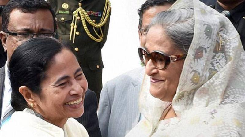 Bangladesh Prime Minister Sheikh Hasina and West Bengal Chief Minister Mamata Banerjee are likely to hold a brief one on one meeting on the sidelines of the India-Bangladesh cricket test match on Friday. (Photo: File)