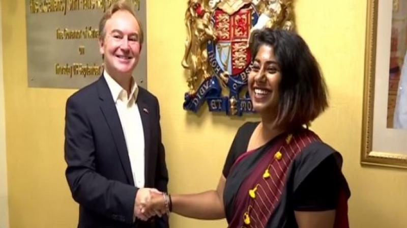 A journalism student from Bengaluru got the rare opportunity of becoming British Deputy High Commissioner for a day and getting to learn about UK-India's diplomatic ties. (Photo: ANI)