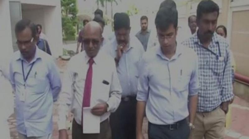 Government-appointed demolition expert, Sharath B Sarwate, along with 11-member technical committee team visited the Holy Faith residential building in Maradu area on Friday in connection with its demolition. (Photo: ANI)