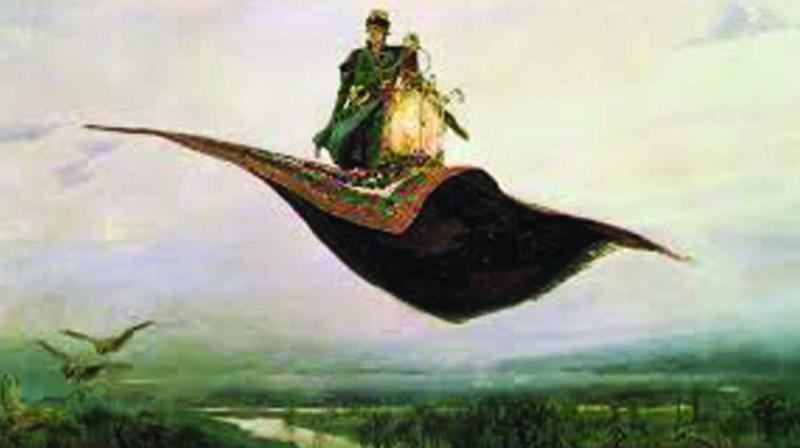 Alf Layla and his flying carpet