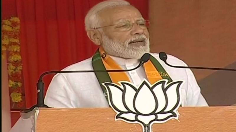 Addressing a poll rally in Haryana's Ellanabad on Saturday assured the voters about the completion of Katarpur corridor. (Photo: twitter/ ANI)