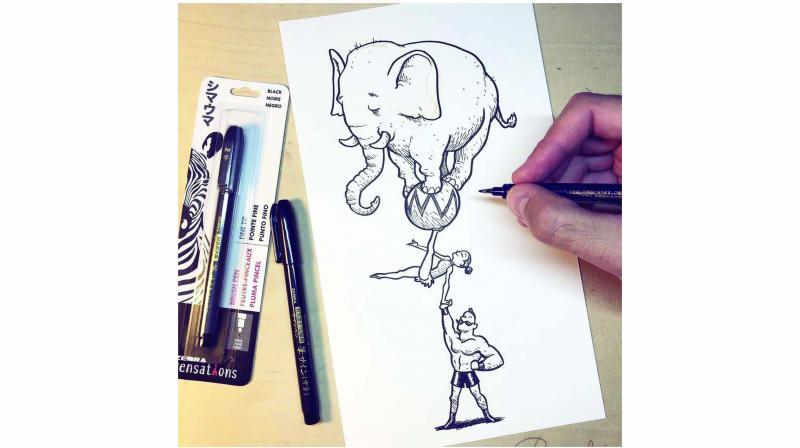 A doodle by Inktober founder Jake Parker
