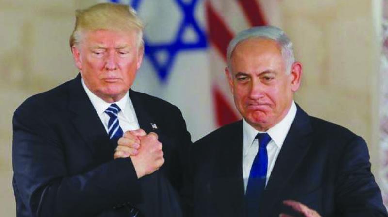 US President Donald Trump and Israeli Prime Minister Benjamin Netanyahu (AFP)
