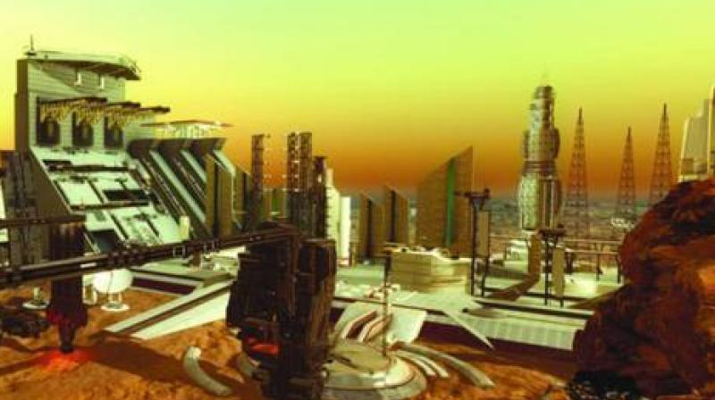 The new project will be associated with research themes featuring the exploration of transportation means, energy and food on the Red Planet. (Photo: Gulf News)