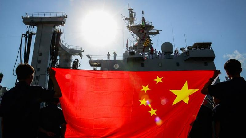 The vessel is the first of China's new generation of destroyers. (Photo: Twitter)