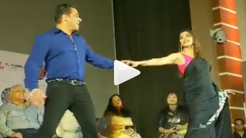 Salman Khan and Madhuri Dixit. (Photo: Instagram)