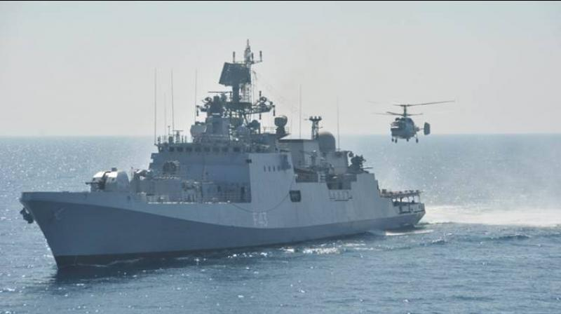 Indian Navy has reportedly deployed one of its frontline warships in the South China Sea. (Representative Image)