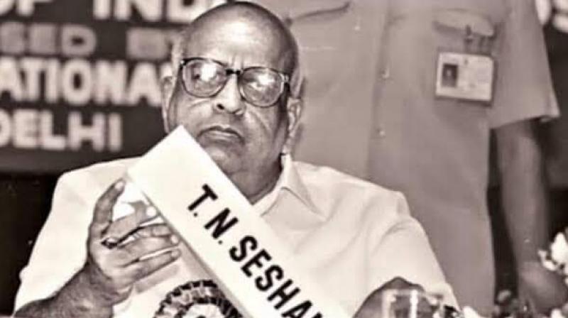 Former chief EC TN Seshan (Photo: Twitter)