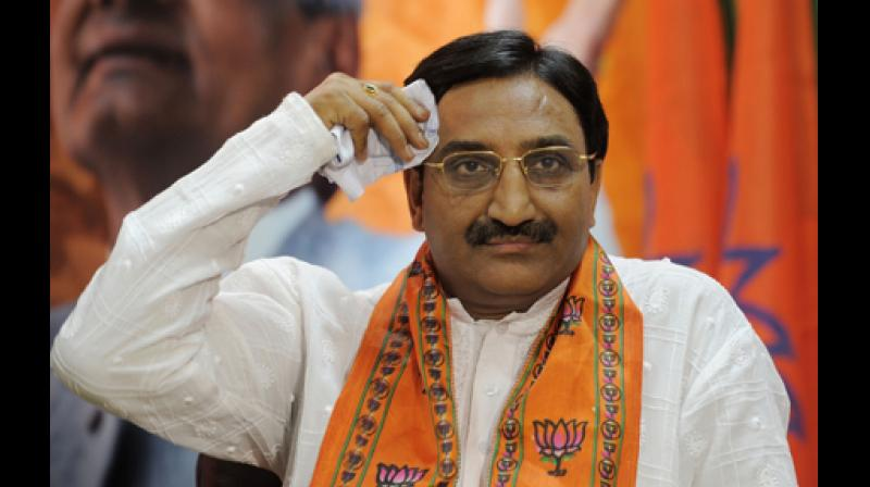 'Nishank' along with Vice President Venkaiah Naidu had gone to All India Council of Technical Education (AICTE) to attend the Jawaharlal Nehru University's third convocation. While Naidu left the premises before the protest escalated, Nishank had to stay inside. (Photo: File | PTI)