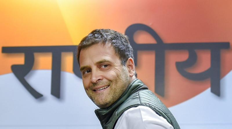 Congress President Rahul Gandhi will be attending all the three oath-taking ceremonies. (Photo: PTI)