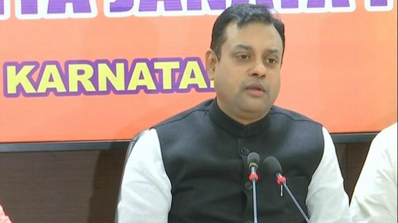 'Rahul Gandhi should resign as Congress' chief. Kamal Nath ji's name crops up along with affidavit and evidence in a report submitted to Nanavati Commission,' BJP spokesperson Sambit Patra said. (Photo: ANI)