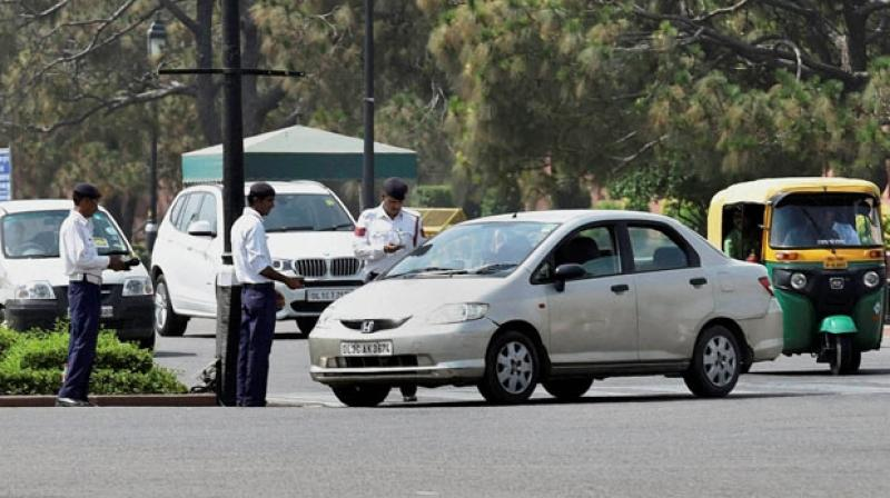 Around 233 challans were issued on the first day of the Odd-Even scheme rolled out by the Delhi government in a bid to reduce air pollution, Delhi Traffic Police said on Monday. (Representational Image)