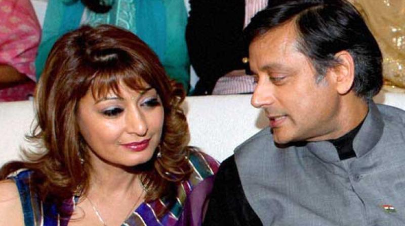 Sunanda Pushkar (left) with Congress MP Shashi Tharoor. (Photo:ANI)