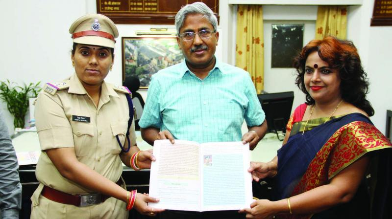 RPF Sub-inspector Rekha Mishra was felicitated by general manager D.K. Sharma