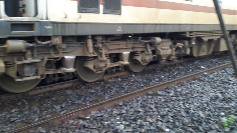 The derailment at 6 am caused blocking of three platforms at the New Complex of Howrah station. (Photo: ANI | Twitter)