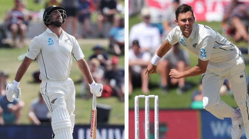New Zealand Cricket (NZC) on Friday confirmed that both Trent Boult and Colin de Grandhomme will be travelling to Perth for the upcoming first Test against Australia. (Photo:AFP)