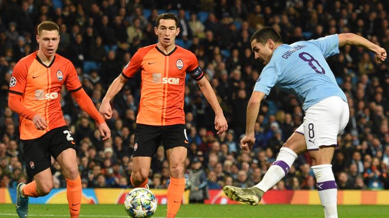 Ilkay Gundogan had fired City ahead in the 56th minute but Shakhtar earned a potentially valuable point after Israeli substitute Manor Solomon equalised in the 69th. (Photo:AFP)