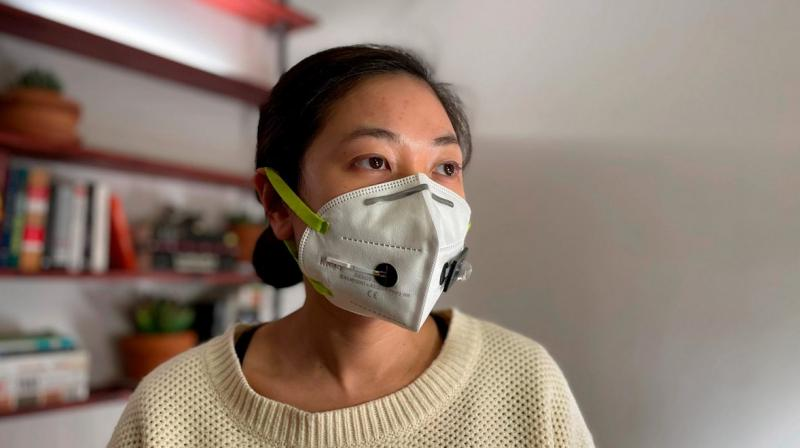 The face mask sensors are designed so that they can be activated by the wearer when they are ready to perform the test. (Photo: news.harvard.edu)