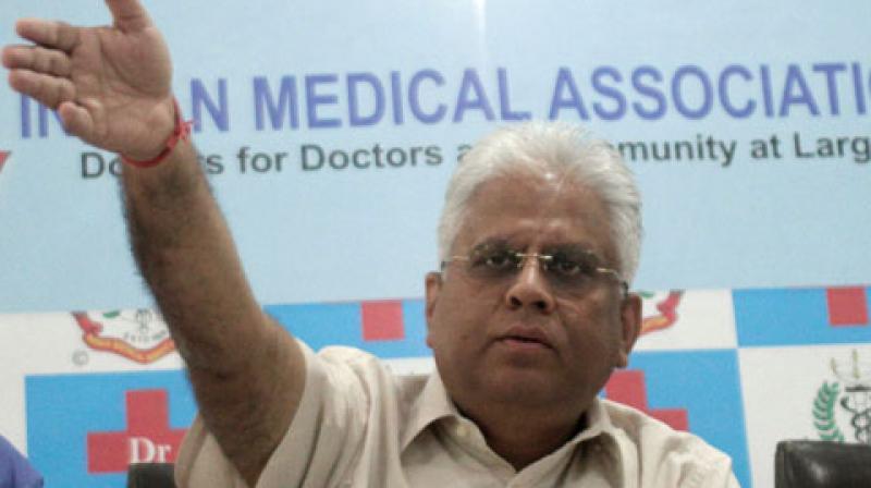 Dr Ranjan Sharma, president of the doctors' national body. (Photo: ANI)