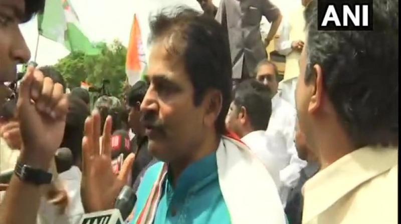 'Abhishek Manu Singhvi ji will represent us in Supreme Court tomorrow,' Congress leader K C Venugopal. (Photo: ANI)