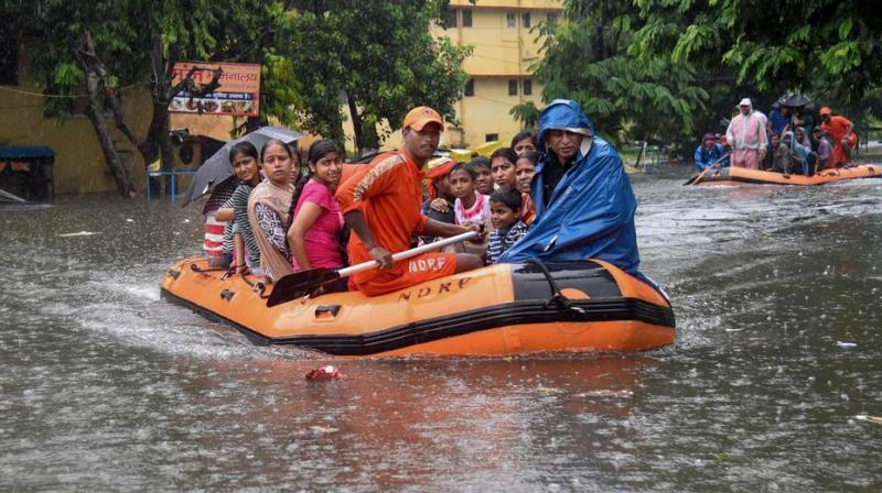 Several state-run hospitals including the Nalanda Medical College and Hospital, which is one of the largest in Patna, are flooded. (Photo: PTI)
