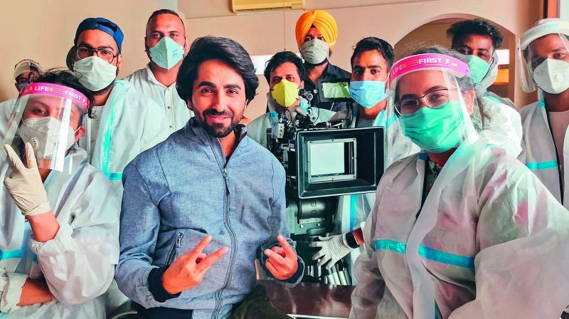 Actor Ayushmann Khurrana resumes shoot