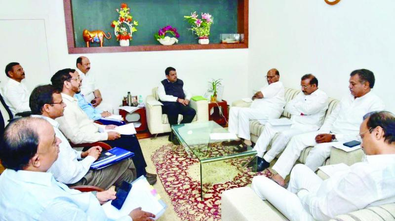 CM held talks with 27,449 village-level elected representatives and officials from 139 drought-hit talukas across 22 districts.