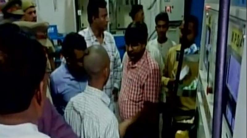 The STF sleuth found that a chip board like device worth Rs. 3,000 was placed inside the petrol dispensing machine, which did the job. (Photo: ANI/Twitter)