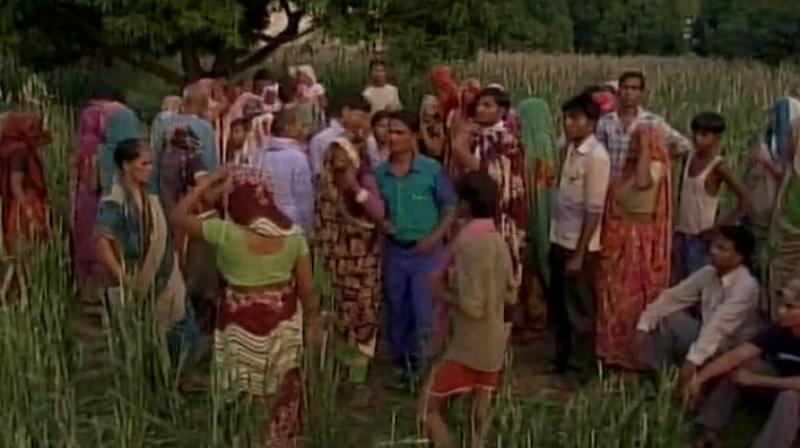 The incident took place on Wednesday in Aligarh's Bheekamapur village. (Photo: Twitter | ANI)