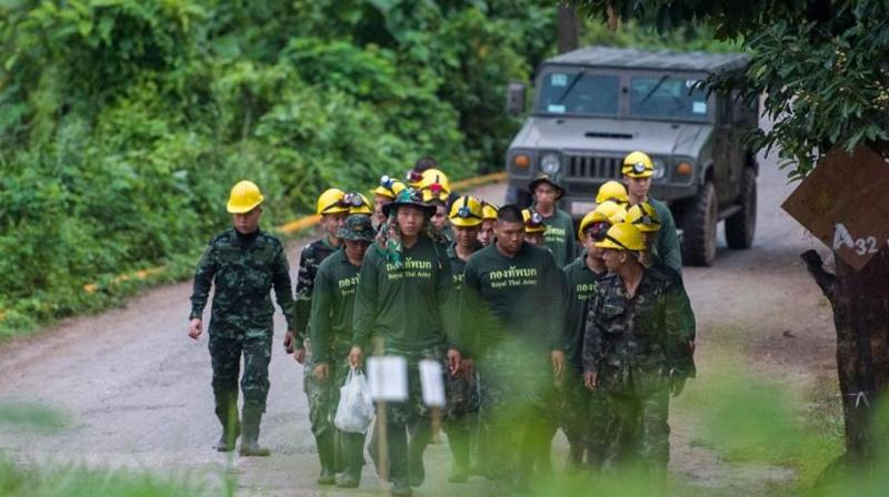 Four boys among the group of 13 trapped in a flooded Thai cave for more than a fortnight were rescued on July 8 after surviving a treacherous escape, raising hopes elite divers would also save the others soon. (Photo: AFP)