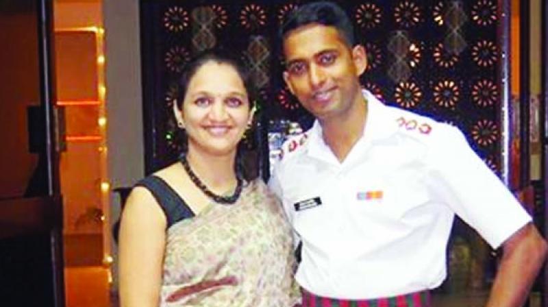 Gauri Mahadik and Major Prasad Mahadik