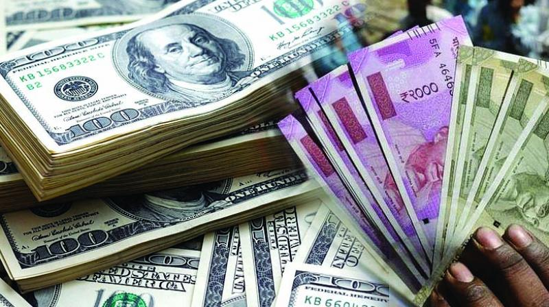 At the interbank foreign exchange market, the rupee opened at 69.82 per dollar and advanced to a high of 69.63 during the day. (Photo: File)