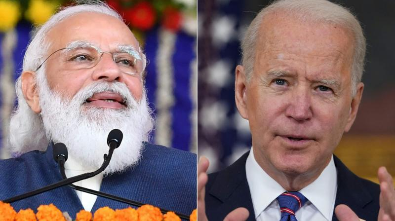 Prime Minister Narendra Modi(L) and US President Joe Biden(R). Biden promised emergency assistance to Covid-ravaged India in a telephone call on April 26, 2021 with Prime Minister Narendra Modi, the two countries said. (AFP)