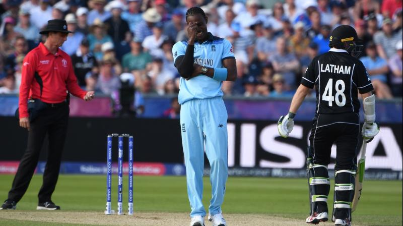 Barbados born speedster Jofra Archer helped his team to win the match against New Zealand by 119 runs. (Photo: AP)