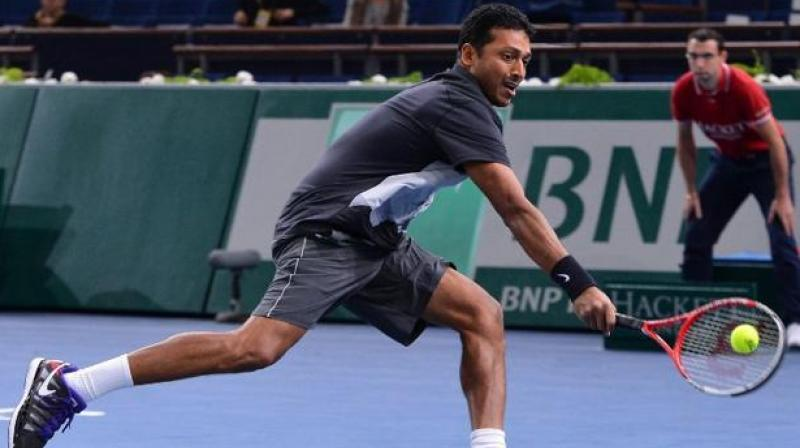 The All India Tennis Association (AITA) named a six-member squad under captain Mahesh Bhupathi on Monday for the Sept. 14-15 tie in Islamabad. (Photo: AFP)