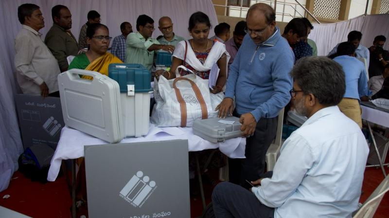 The Election Commission has banned use of mobile phones inside polling stations. (Photo: AP)