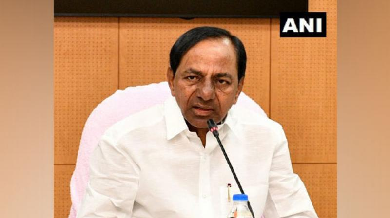 Chief Ministers of Telangana, Andhra Pradesh and Maharashtra -- K Chandrasekhar Rao, Y S Jaganmohan Reddy and Devendra Fadnavis will participate in the function. (Photo: ANI)