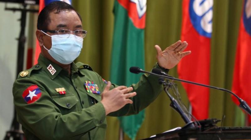 Brigadier General Zaw Min Tun, spokesman for the ruling council (Twitter@descifraguerra)