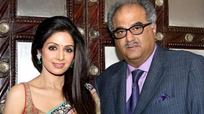 Boney Kapoor with his late wife Sridevi.