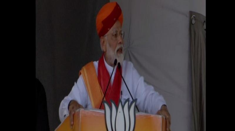 Prime Minister Narendra Modi on Sunday lashed out at the Congress party in a rally at Rajasthan. (Photo: ANI