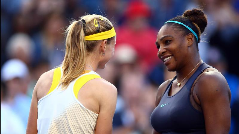 Serena Williams rallied to avoid a stunning upset and secure a 1-6 6-3 6-3 semi-final win over Czech qualifier Marie Bouzkova at the Rogers Cup on Saturday. (Photo:AFP)