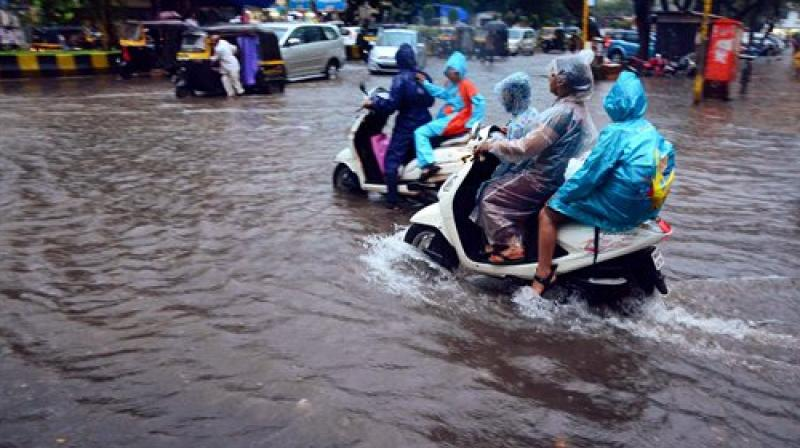 Since Tuesday, Mumbai is witnessing heavy rainfall accompanied by thunder and lightning which has led to water-logging in many areas.(Photo: PTI)