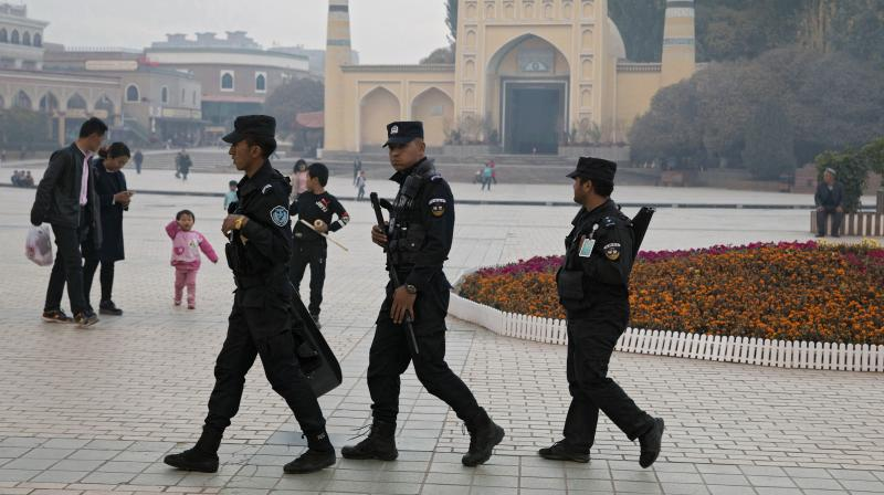 China has faced growing international opprobrium for setting up facilities that United Nations experts describe as detention centres. (Photo:AP)